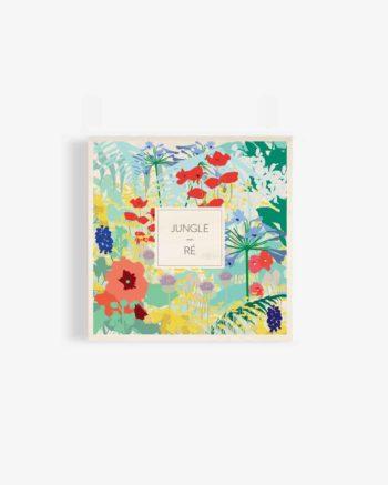 Affiche-en-bois-jungle-déco-design-ile-de-ré-fleurs-motif-fleuri-deco-bois-affiche-ancienne-odilederé-odile-odîle-odilederey