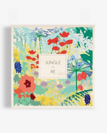 affiche-en-bois-motif-jungle-déco-tropicale-ile-de-ré-rose-tremiere-fougère-agapanthe-immortelle-des-dunes-chardons-déco-design-fleurs-fleuri-poster-bois-odilederé-odile-odîle-odilederey