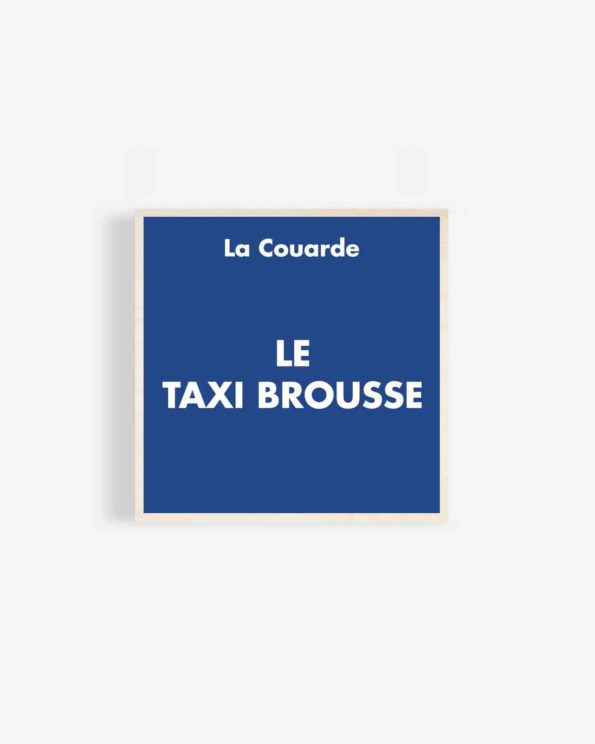 Affiche en bois Taxi Brousse 30x30cm