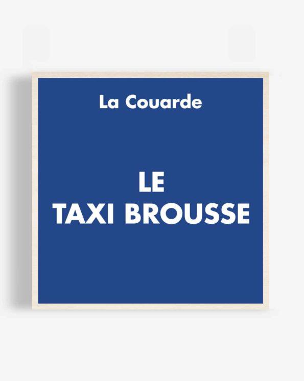 Affiche en bois Taxi Brousse 40x40cm