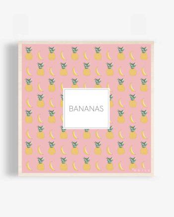 Affiche-bois-tropical-banane-ananas-illustration-déco-design-déco-bois-poster-bois-odilederé-odile-odîle-odilederey