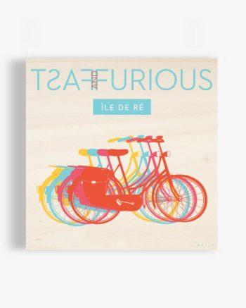 Affiche en bois le de ré vélos fast and furious