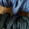 bracelet porte bonheur soie habotai gris orage vert bouteille
