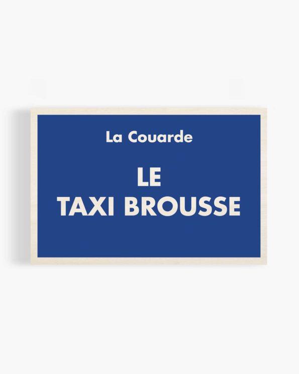 Carte postale en bois taxi brousse