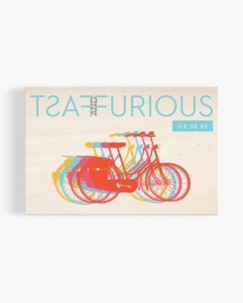 carte postale en bois le de ré vélos fast and furious