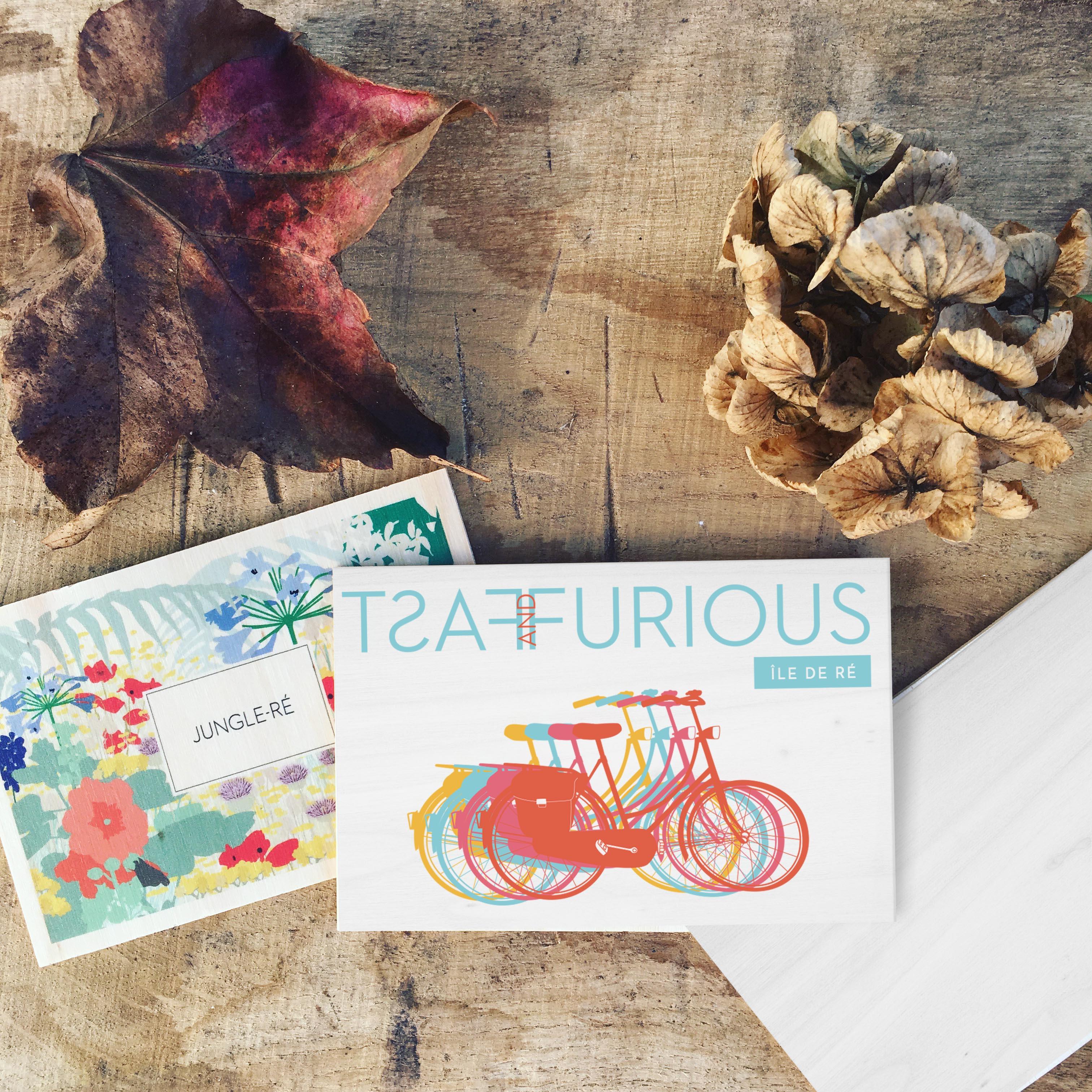 cartes postales en bois ile de ré