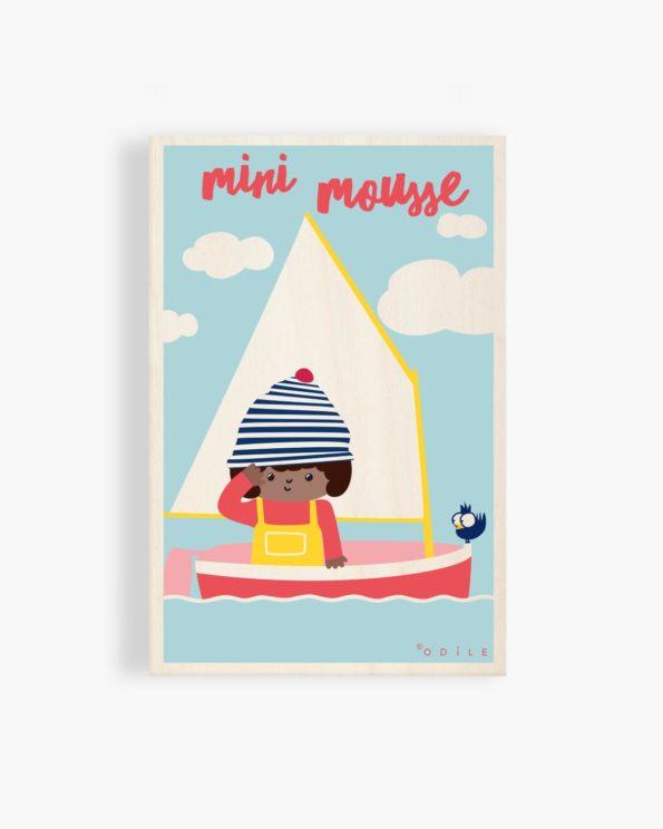 Carte postale en bois Mini mousse