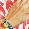 bracelet porte bonheur en liberty grigri souvenir de l'île de ré médaillon rêve