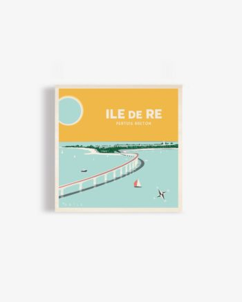 affiche en bois ile de ré pont de l'ile de ré ile de ré ré la blanche