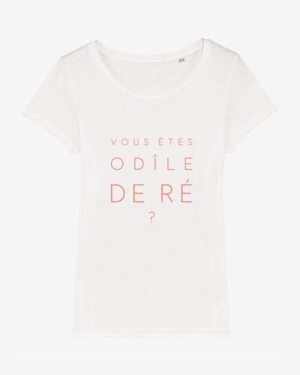 vous êtes odile de ré? ile de ré t-shirt design original création les nuls la cité de la peur