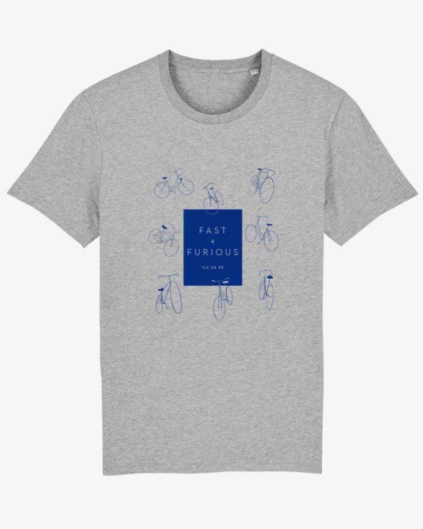 velo ile de ré tshirt graphique design original souvenir de l'ile de ré
