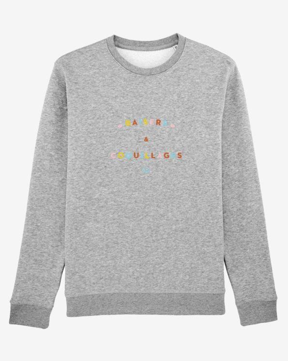 Sweat-shirt île de ré  Baisers et coquillages en Coton bio unisexe