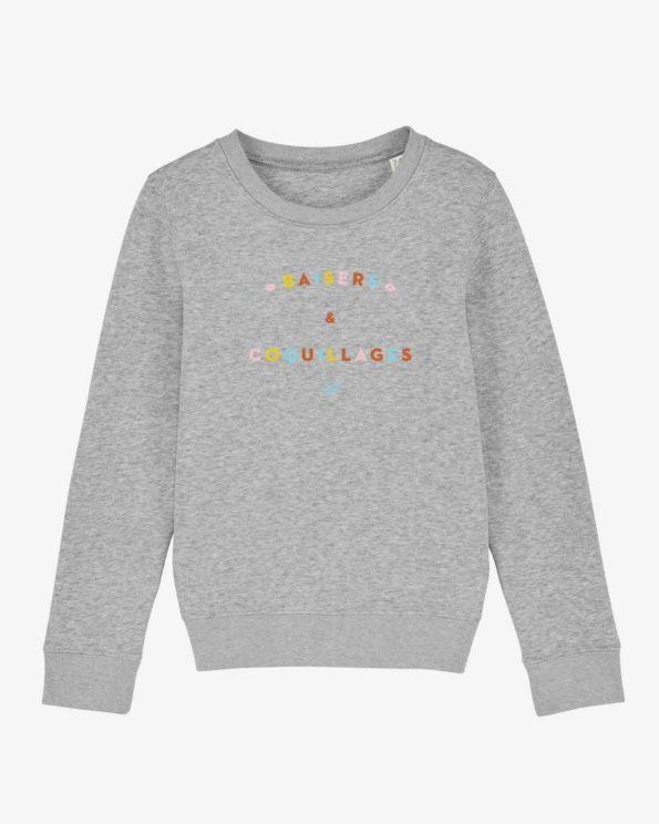 Sweat-shirt île de ré baisers et coquillages enfant en Coton bio