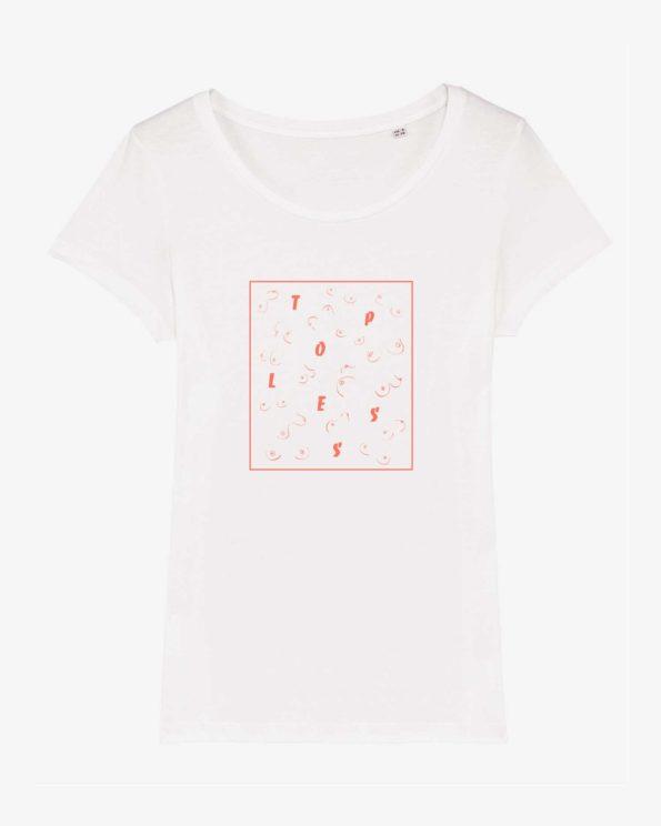 T-shirt ile de ré en coton bio topless