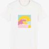T shirt ile de ré coton bio life is a beach illustration rétro années 80